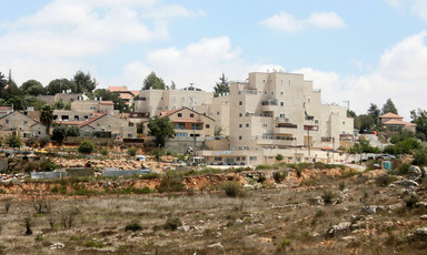 Apartments inside an Israeli settlement near the West Bank city of Ramallah.