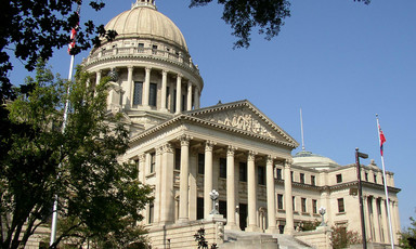 The state capitol building in Jackson, Mississippi.