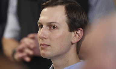 A close-up of Jared Kushner's face