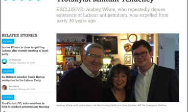 Screenshot from The Jewish Chronicle's website